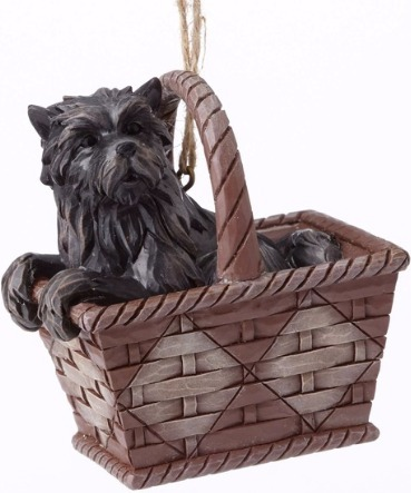 Jim Shore Wizard of Oz 4054569 Toto in Basket HO