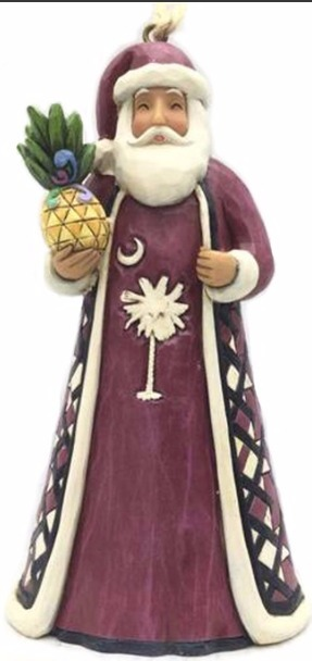 Jim Shore 4054837 SC Santa Garnet Ornament