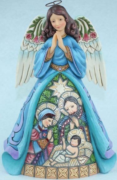 Jim Shore 4055051 Nativity Angel w St Figurine