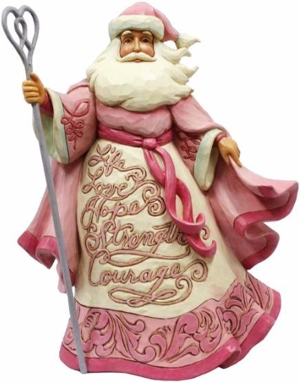 Jim Shore 4055056 Santa Breast Cancer Figurine