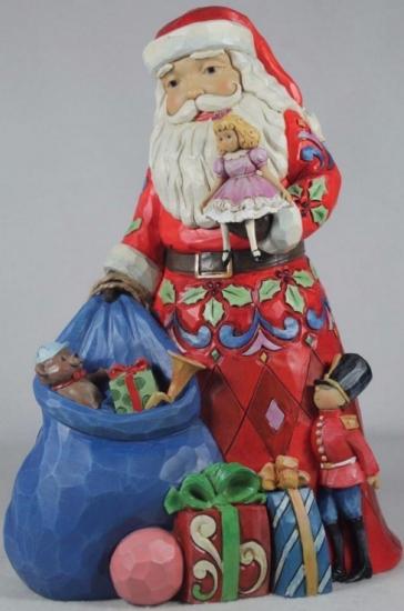 Jim Shore 4055116 Santa Toy Bag Figurine