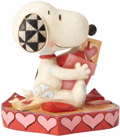 Peanuts by Jim Shore 4055652 Snoopy with Valentine's