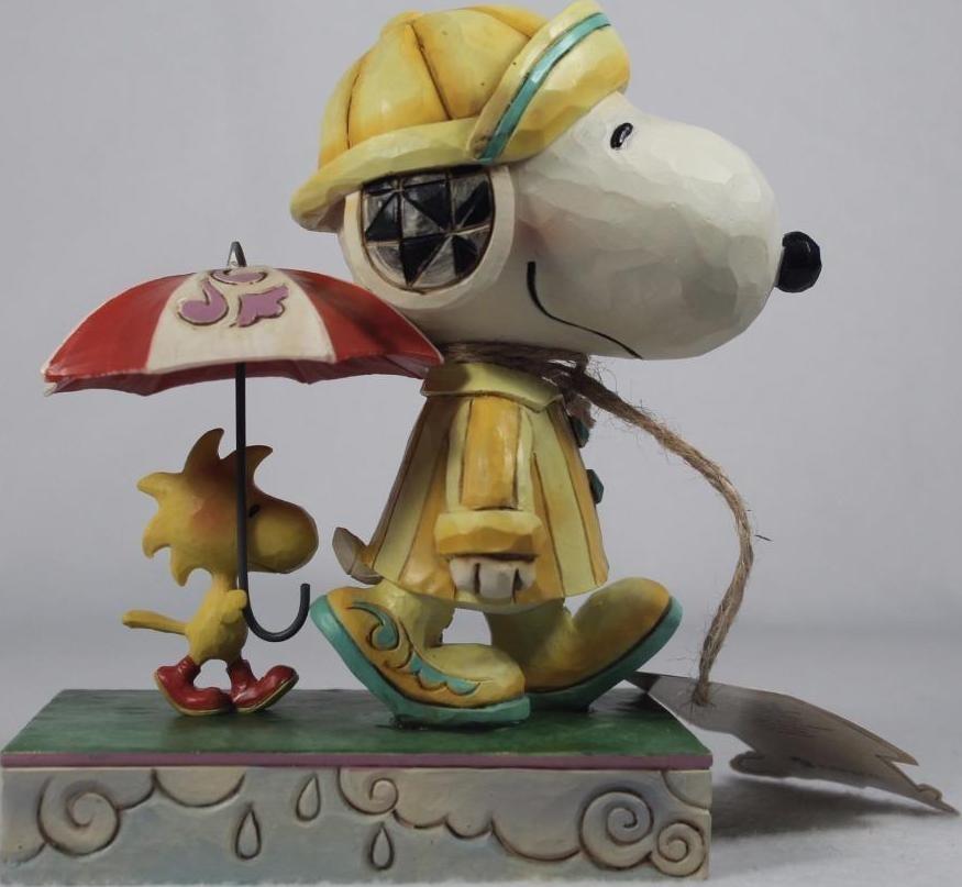 Peanuts by Jim Shore 4055654 Platinum Rainy Day Snoop