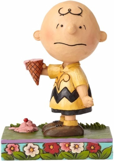Peanuts by Jim Shore 4055657 Charlie Brown with Ice Cream