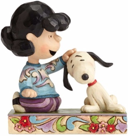 Jim Shore Peanuts 4055660 Lucy Petting Snoopy