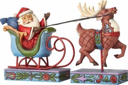 Jim Shore 4056780 Santa Across Americ