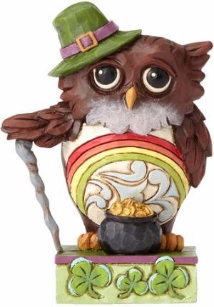Jim Shore 4056938 Irish Owl Mini Figurine