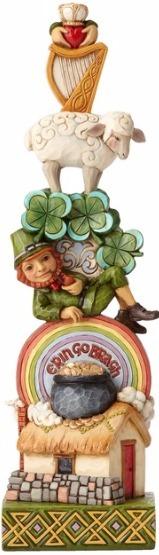 Jim Shore 4056939 Stacked Irish Figurine