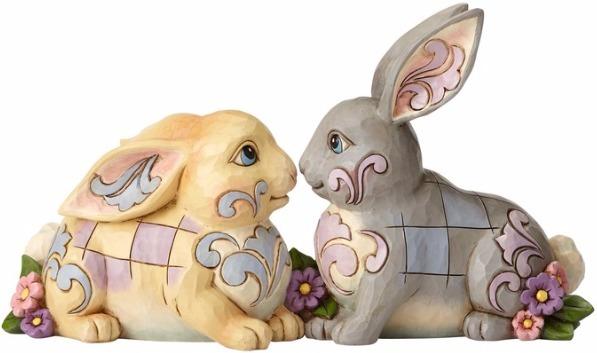 Jim Shore 4056940 Two Sitting Bunnies Figurine