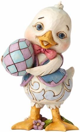 Jim Shore 4056943 Pint Duck Holding Egg Figurine