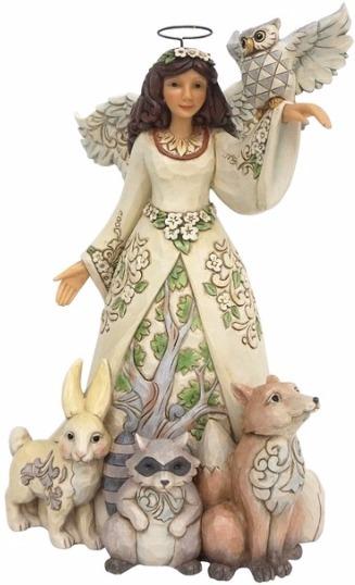 Jim Shore 4056968 Woodland Angel Spring Figurine