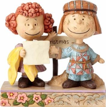 Jim Shore Peanuts 4057668 Pig-Pen and Frieda