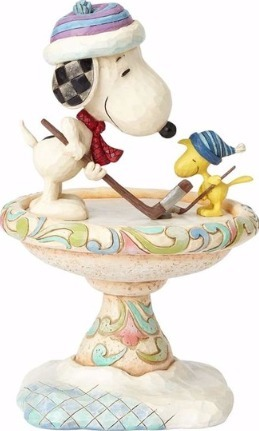 Jim Shore Peanuts 4057675 Snoopy and Woodstock Hoc
