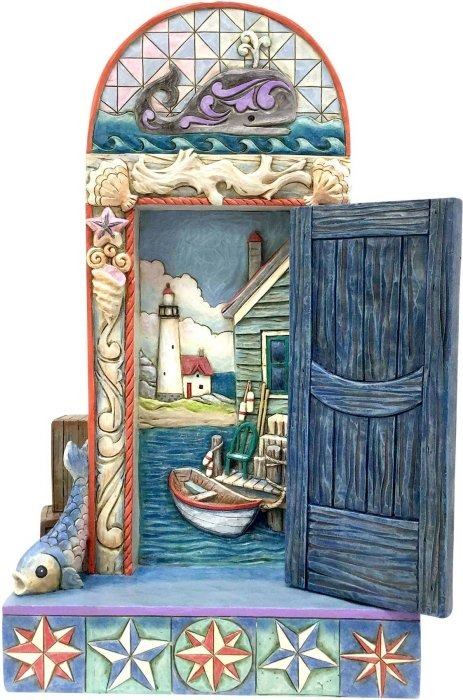 Jim Shore 4057689 Coastal Door S Figurine