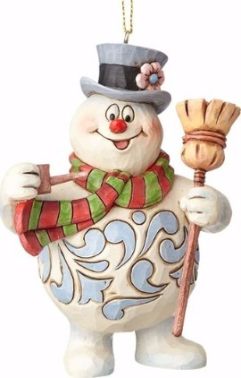 Jim Shore Frosty 4058192 Frosty with Broom Ornament