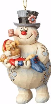 Jim Shore Frosty 4058193 Frosty & Karen Ornament