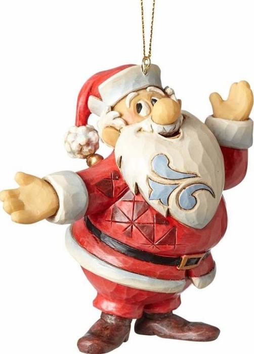 Jim Shore Frosty 4058195 Santa Ornament