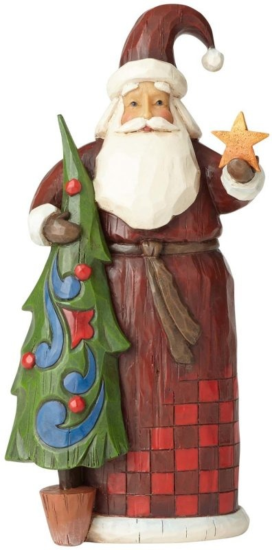 Jim Shore 4058765 Folklore Santa Tree And Star