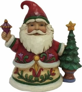 Jim Shore 4058804 Pint Size Santa & Tree Figurine