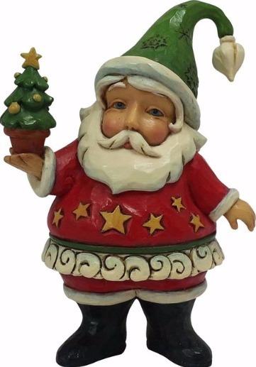 Jim Shore 4058810 Santa with Tree Mini