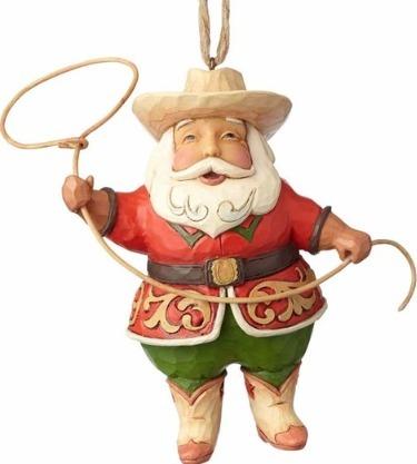 Jim Shore 4058817 Cowboy Santa Ornament