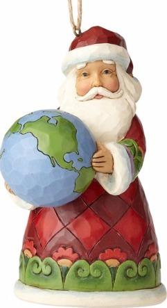 Jim Shore 4058826 Santa Holding Globe