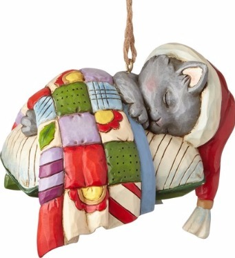 Jim Shore 4058828 Kitten on Pillow Ornament