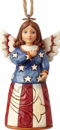 Jim Shore 4058838 Patriotic Angel Mini