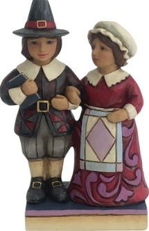 Jim Shore 4058844 Mr. and Mrs. Pilgrim Figurine