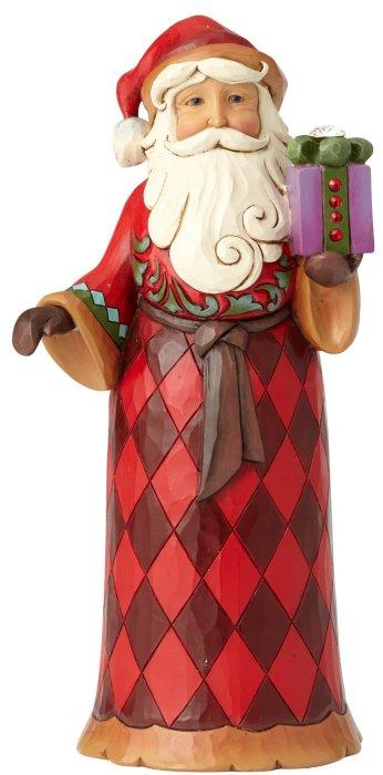 Jim Shore 4059003 Santa and Present Figurine