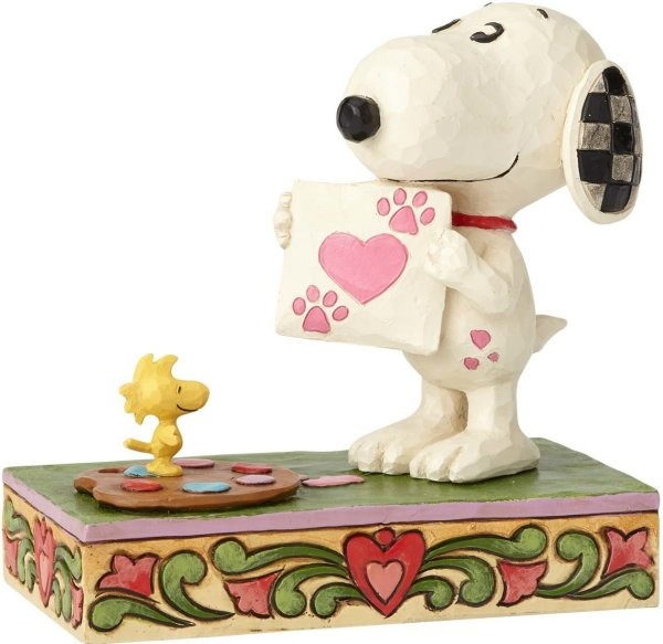 Jim Shore Peanuts 4059431 Snoopy Love with Woodstock