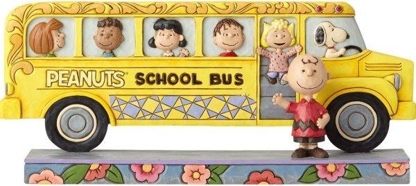 Jim Shore Peanuts 4059439 Peanuts School Bus