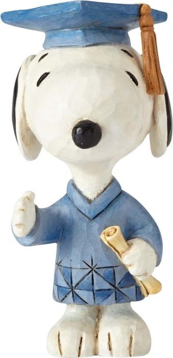 Jim Shore Peanuts 4059442 Snoopy Graduate Mini