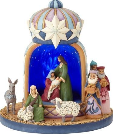 Jim Shore 4060109 Lighted Holy Family Figurine