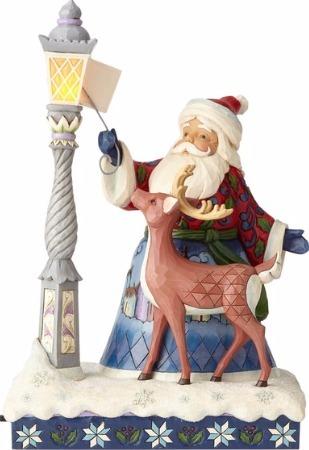 Jim Shore 6000673 Santa Lighting Lamp