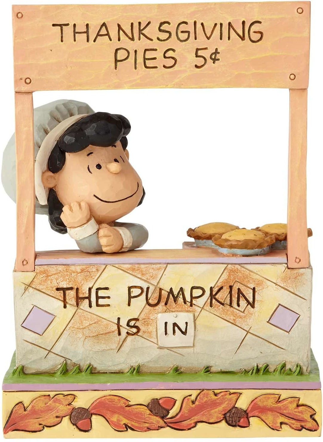 Jim Shore Peanuts 6000979 Lucy Thanksgiving Pie