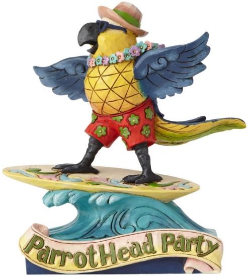 Jim Shore Margaritaville 6001069 Surfing Parrot