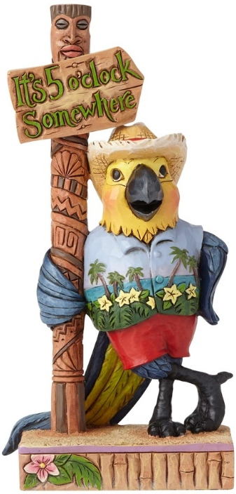Jim Shore Margaritaville 6001072 Pint Sized Parrot