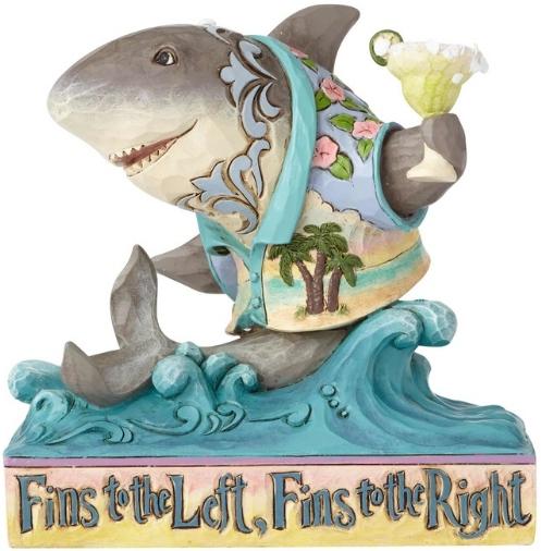 Jim Shore Margaritaville 6001073 Pint Sized Shark
