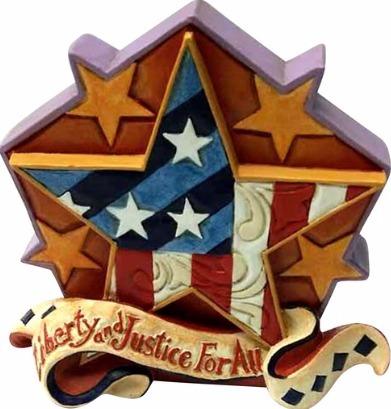 Jim Shore 6001088 Patriotic Star Mini