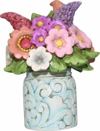 Jim Shore 6001089 Flower Bouquet Mini