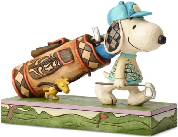 Jim Shore Peanuts 6001288 Golf Snoopy and Woodstock