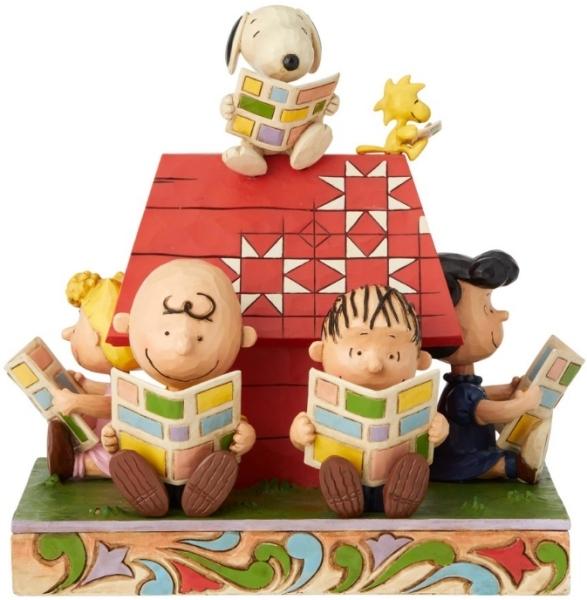 Jim Shore Peanuts 6001289 Peanuts Gang reading the