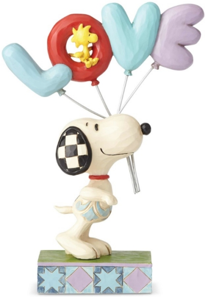 Jim Shore Peanuts 6001291 Snoopy with LOVE Balloon