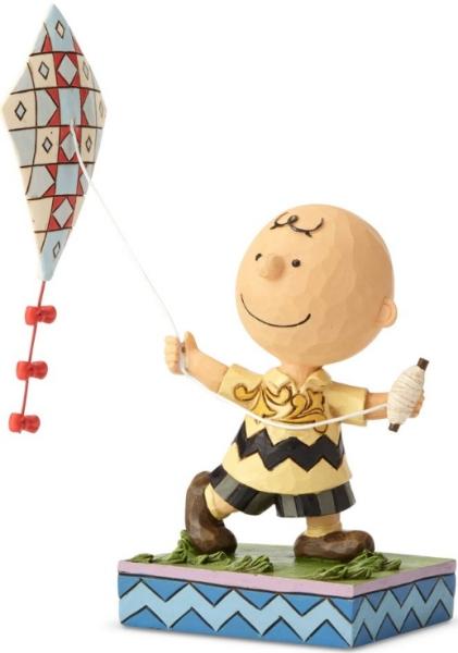 Jim Shore Peanuts 6001293 Flying Kite Charlie Brown