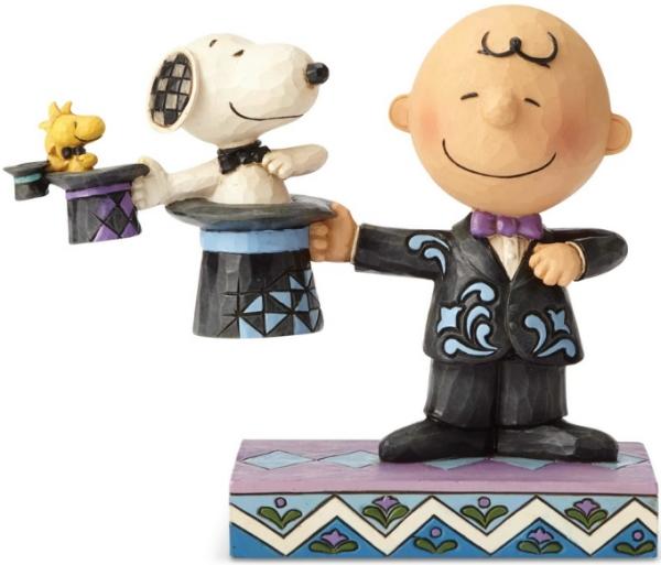 Jim Shore Peanuts 6001294 Top Hat Magician