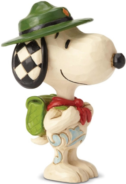 Peanuts by Jim Shore 6001296N Snoopy Boy Scout Mini