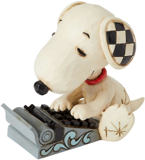 Jim Shore Peanuts 6001298 Snoopy Typing Mini Figurine