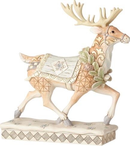 Jim Shore 6001411 Woodland Walking Reindeer Figurine