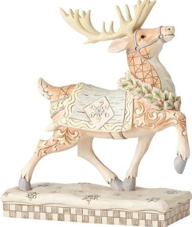 Jim Shore 6001412 Woodland Reindeer Prancing Figurine